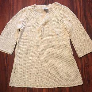 Soft Surroundings Cream Chunky Sweater Size M